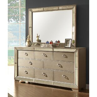 Ligia 8 Drawer Dresser with Mirror