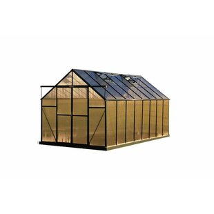 Grandio Greenhouses Ascent Heavy-Duty Aluminum 8 Ft. W x 16 Ft. D Greenhouse
