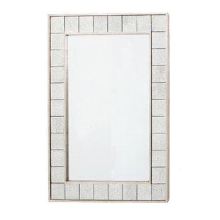 Wildon Home Lola Aged Tile Accent Mirror