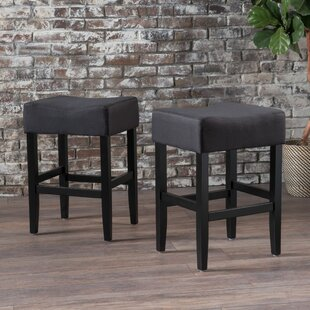 Chamness Backless Fabric Counter 26 Bar Stool (Set of 2) Latitude Run