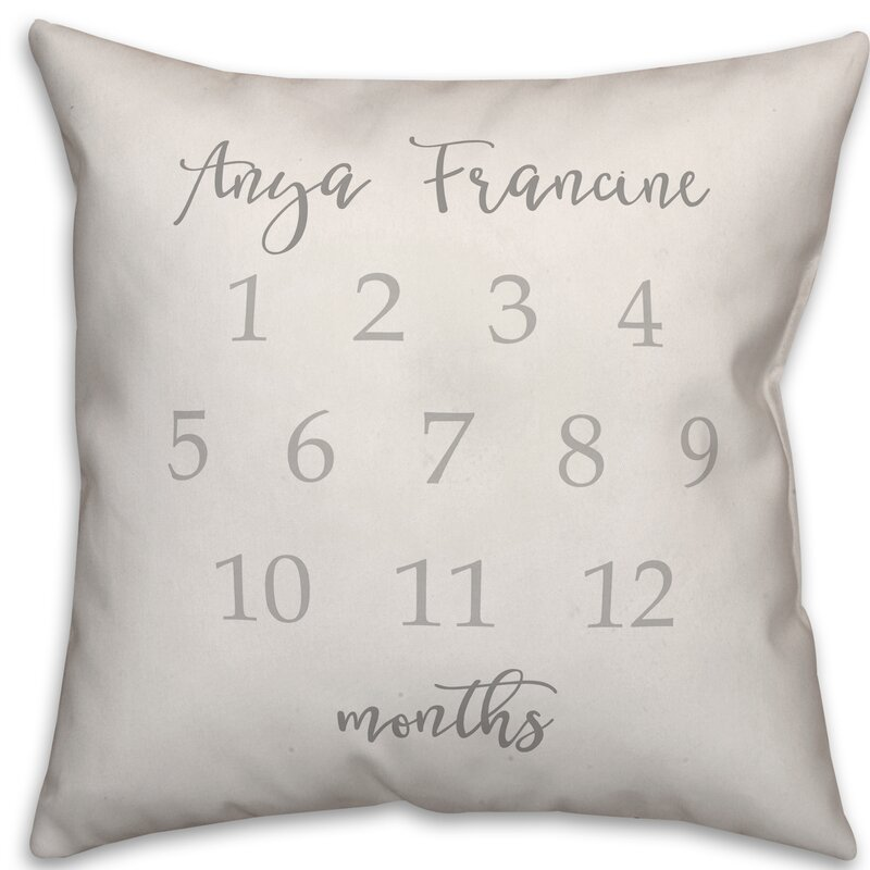 August Grove Borley Simple Personalized Milestone Throw Pillow Wayfair