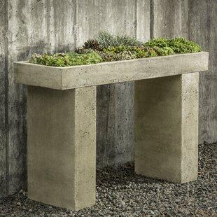 Wrought Studio Bellman 4.5 ft x 1.5 ft Cast Stone Raised Garden