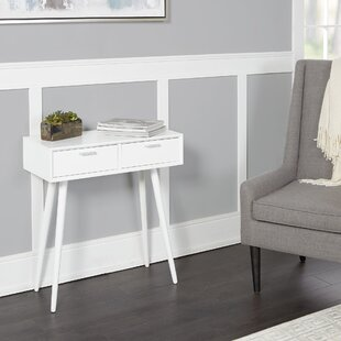 Brenner Mid-Century 2-Drawer Console Table