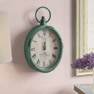 Compare prices Lussier Antique Oval Wall Clock by Lark Manor