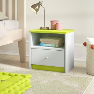 Caswell Bedside Table with Drawer by Zoomie Kids