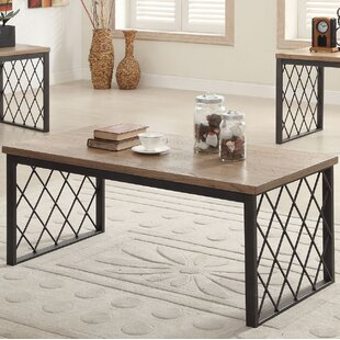 Gracie Oaks Vernet 3 Piece Coffee Table Set