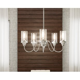 Charlton Home Gunter 5-Light Shaded Chandelier