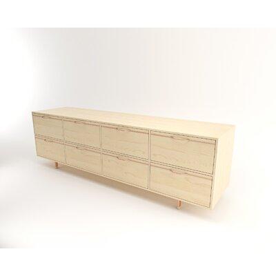 "Tronk Design Chapman 94"" Wide 8 Drawer Sideboard  Color: Rose Copper"