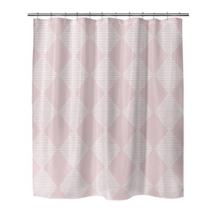 Hot Springs Block Print Check Board Single Shower Curtain