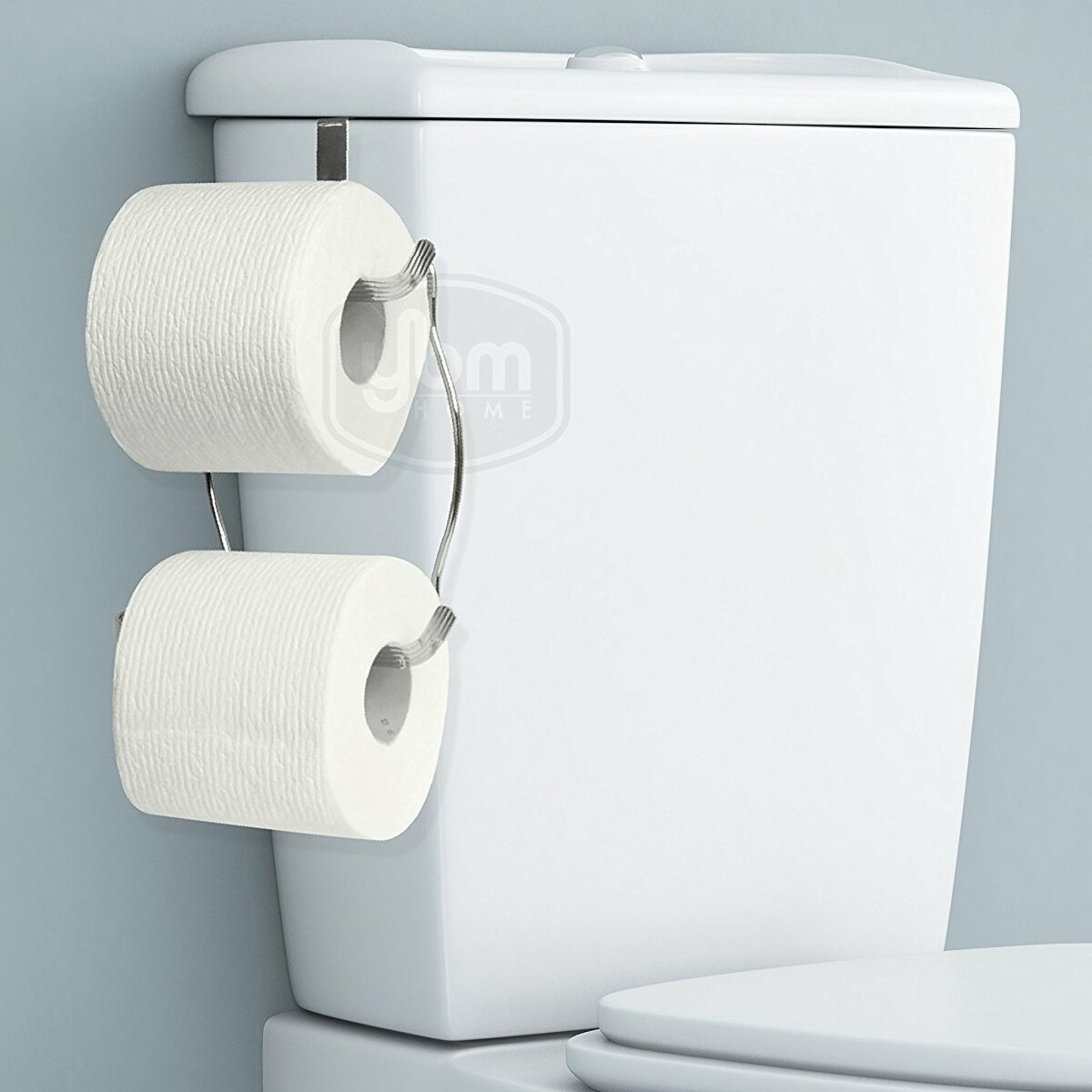 Convenient Single Roll Toilet Paper Tissue Holder Hanger Hangs Over The Tank