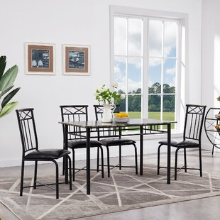 Register 5 Piece Dining Set Fleur De Lis Living