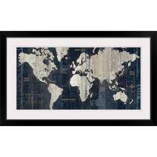 Framed Maps Wall Art You Ll Love Wayfair