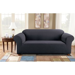 Simple Stretch Subway Box Cushion Sofa Slipcover