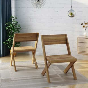 Indoor Farmhouse Solid Wood Dining Chair (Set of 2)
