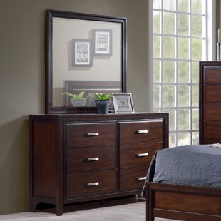 Barwood 6 Drawer Double Dresser with Mirror
