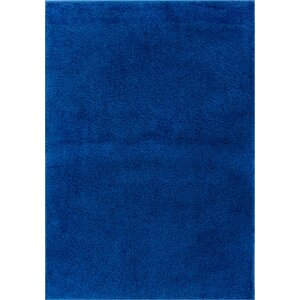 Reynolds Plain Solid Dark Blue Area Rug