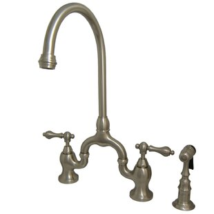 Kingston Brass English Country Bridge Faucet with Side Spray