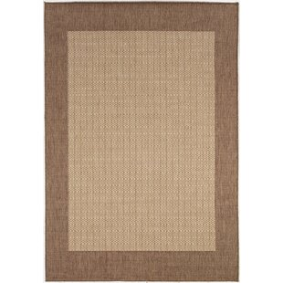 Zachary Checkered Field Brown Indoor/Outdoor Area Rug