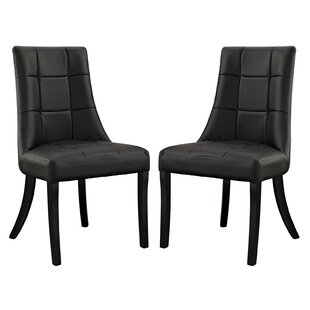 Chuck Upholstered Dining Chair (Set of 2) Latitude Run