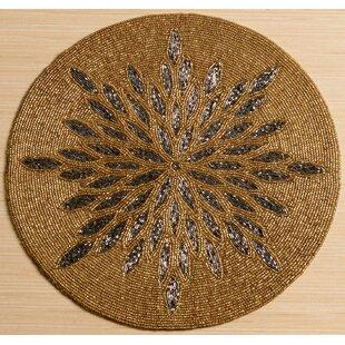 Popular Gold Beaded Placemats   Wayfair PG59