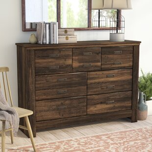 Laurel Foundry Modern Farmhouse Saint Marys 7 Drawer Dresser with Mirror