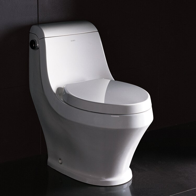 Ariel Bath Adonis Contemporary 1.6 GPF Elongated One-Piece Toilet ...