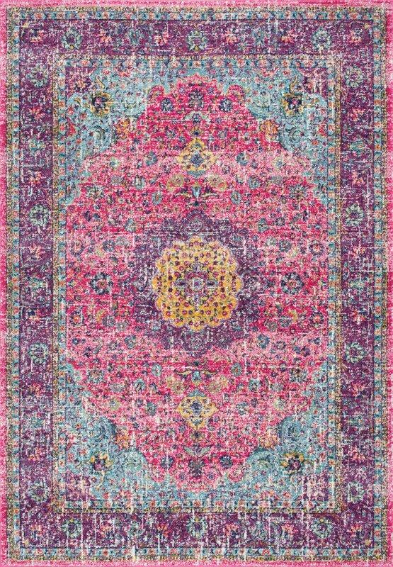 Darcia Pink/Purple Area Rug