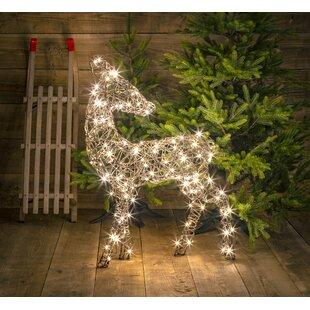 Standing Wicker Deer Lighted Display By Union Rustic
