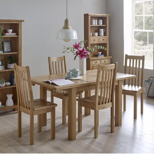 Aisling Compact Extendable Dining Set With 4 Chairs