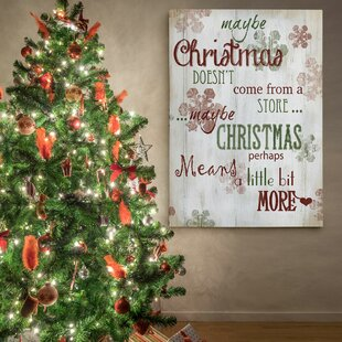 U0027Christmas Means More Typeu0027 Photographic Print On Wrapped Canvas