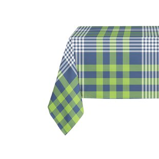 Genial Zoelle Plaid Blue/Green Table Cloth