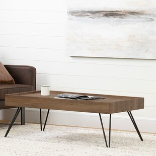 Slendel Coffee Table with Tray Top