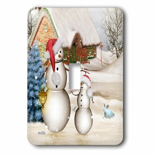 7b40caff1dc8c Funny Snowman with Christmas Hat Socket Plate