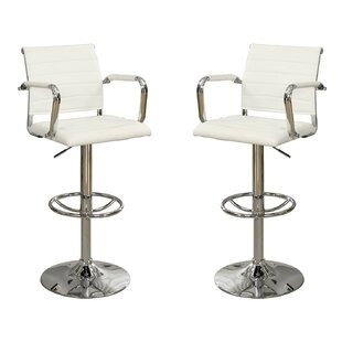 Adjustable Height Swivel Bar Stool (Set of 2) Infini Furnishings