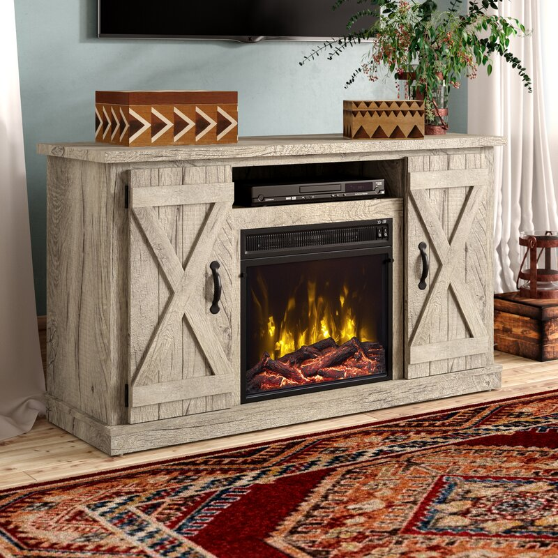 Laurel Foundry Modern Farmhouse Adelaide Tv Stand For Tvs Up To 55 With Electric Fireplace Reviews Wayfair
