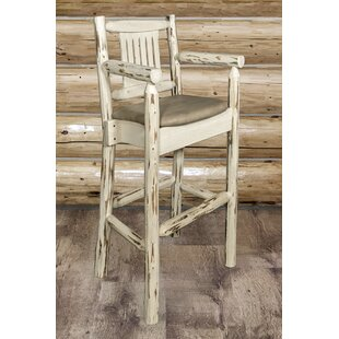 Abordale 30 Wood Legs Bar Stool Loon Peak