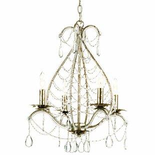 Reviews Belinda 4-Light Candle Style Chandelier By AF Lighting