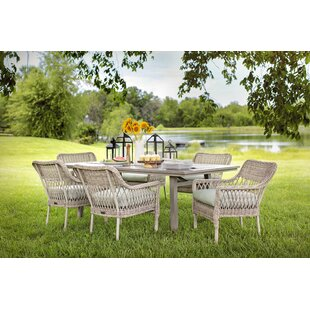 Paul 7 Piece Dining Set with Sunbrella Cushions by Rosecliff Heights