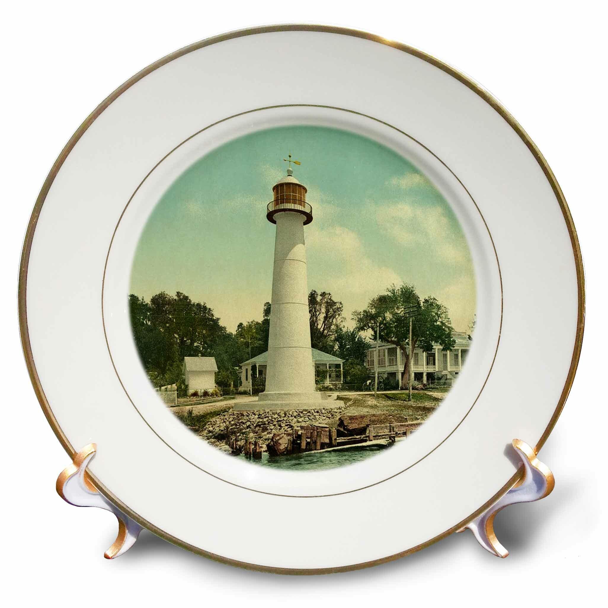 East Urban Home 1901 Biloxi Lighthouse Porcelain Decorative Plate