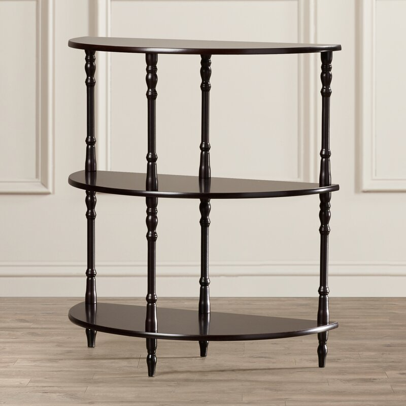 Exceptionnel Ladoga 3 Tier Half Moon End Table In White