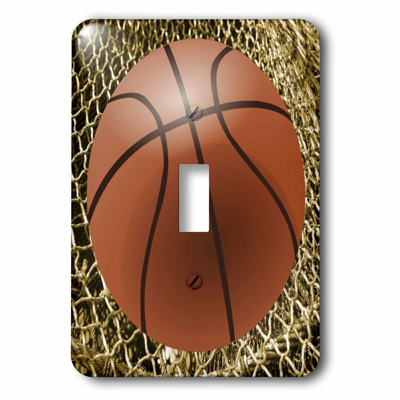 3drose Basketball With Net 1 Gang Toggle Light Switch Wall Plate Wayfair