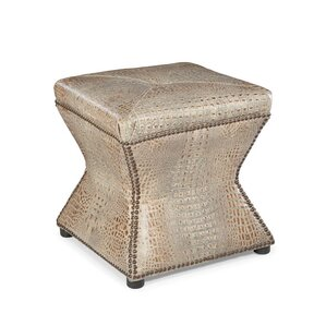 Warren Leather Ottoman by ..