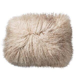 Morison Tibetan Lamb Fur Throw Pillow