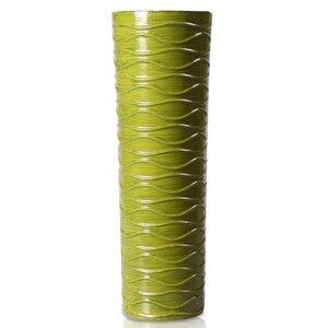 Cylinder Wood Decorative Vase