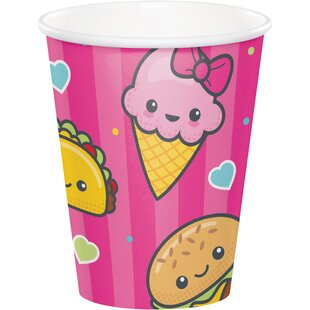 Food Love Paper Disposable Cup (Set of 24)