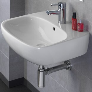 Buy luxury Moda Vitreous China 20 Wall Mount Bathroom Sink with Overflow By Bissonnet