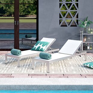Coline Outdoor Patio Aluminum Single Chaise (Set of 2) by Orren Ellis
