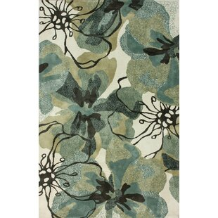 Look for Pop Forest Green/Black Area Rug By nuLOOM