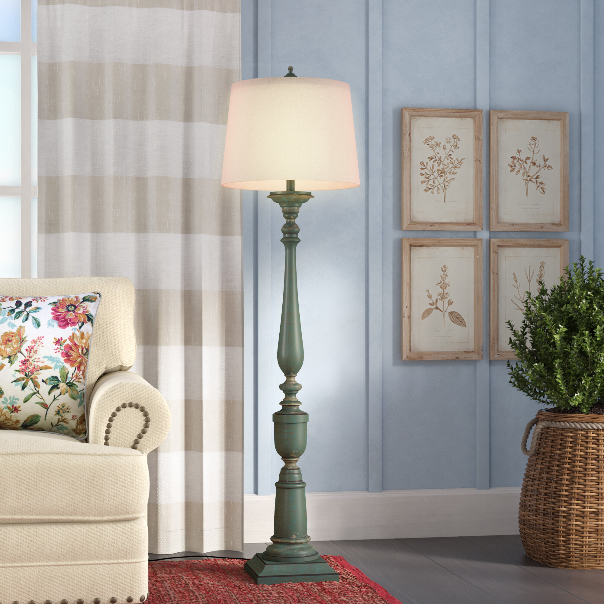 One Allium Way Bordeaux Classic 66 Traditional Floor Lamp Reviews Wayfair
