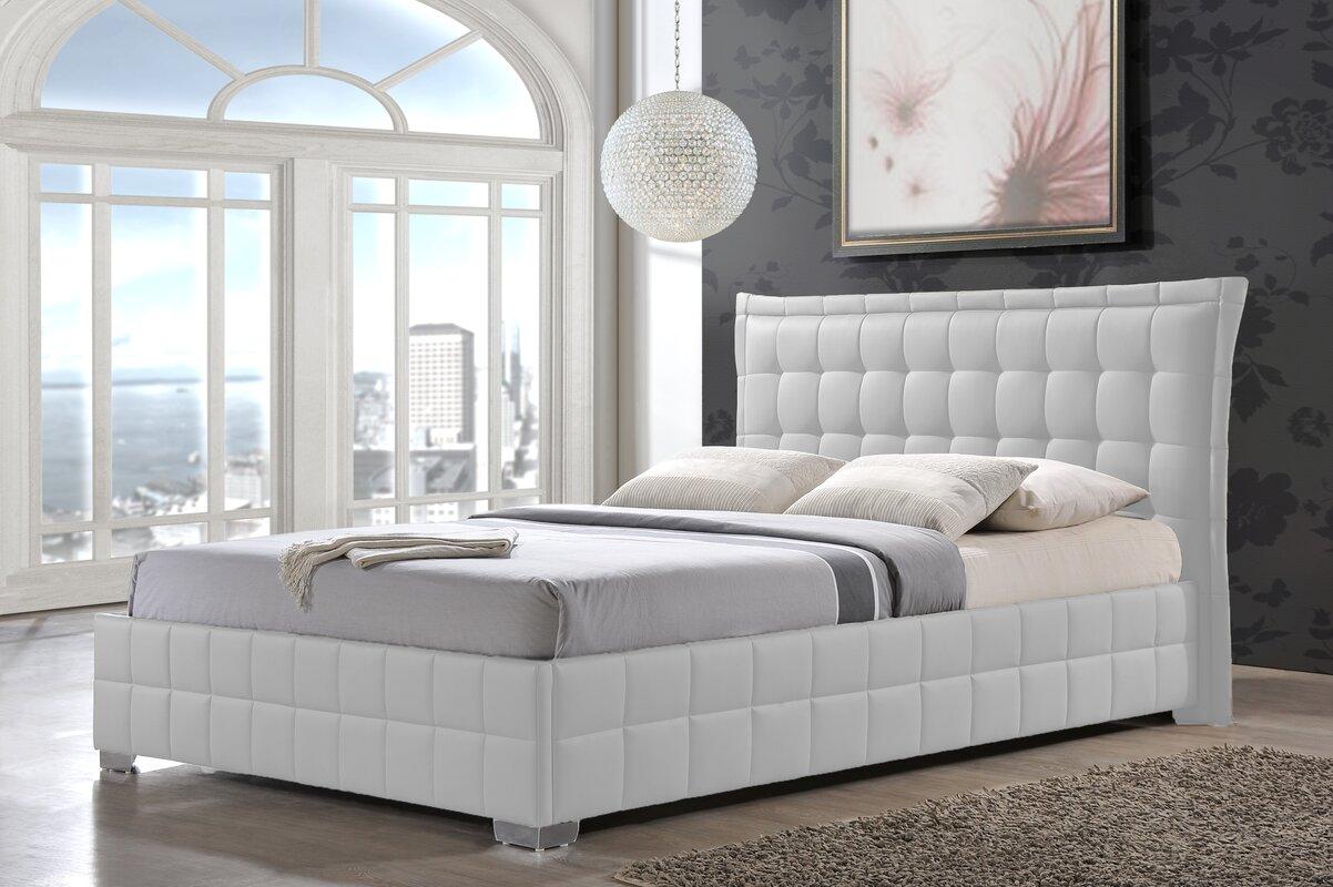 wade logan bianca queen upholstered platform bed  reviews  wayfair - defaultname